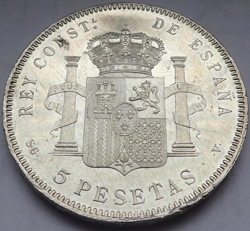 5 Pesetas 1899. Alfonso XIII. SGV Pb170318