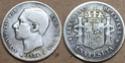 1 peseta 1884 MBC+ A13