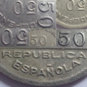 50 céntimos 1937. Consejo Santander, Palencia y Burgos.  Hhh10