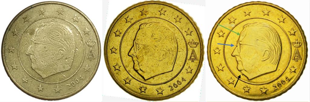 Moneda50 Centimos de Euro 2004 Belgica. ERROR Y15