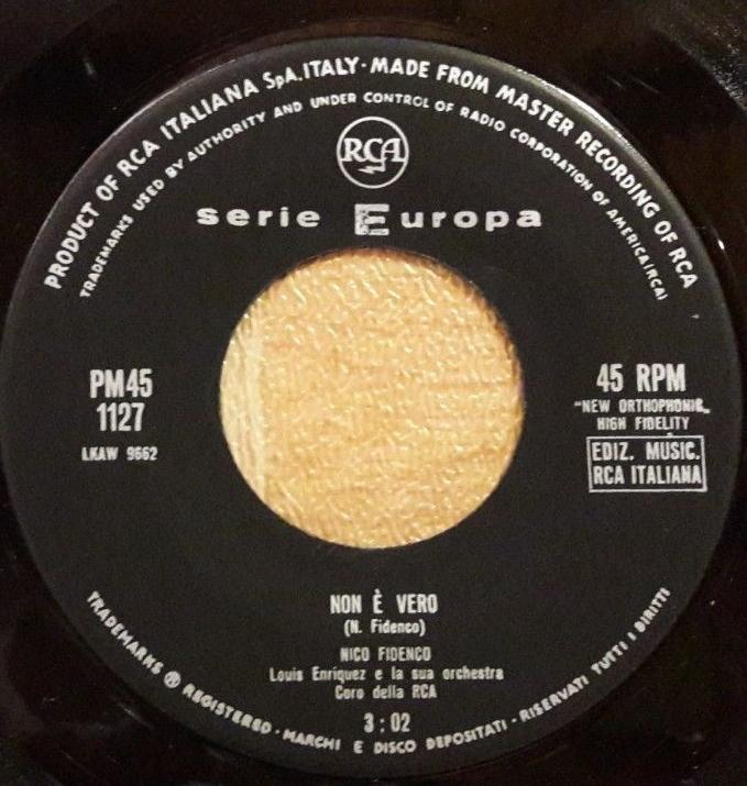 Datazione RCA record Victor