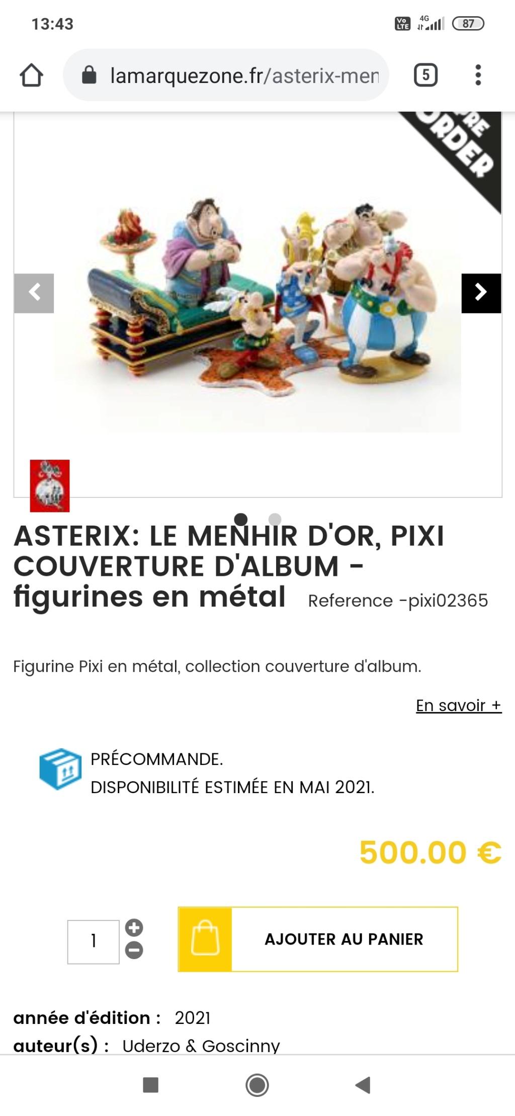 Astérix Le Menhir d'Or par Pixi Screen14