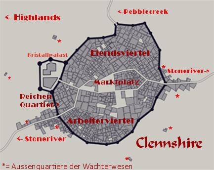 Maps und Ortserklärungen Clenns10