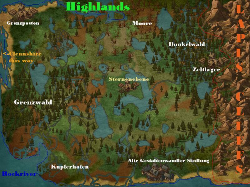 Maps und Ortserklärungen Highla10