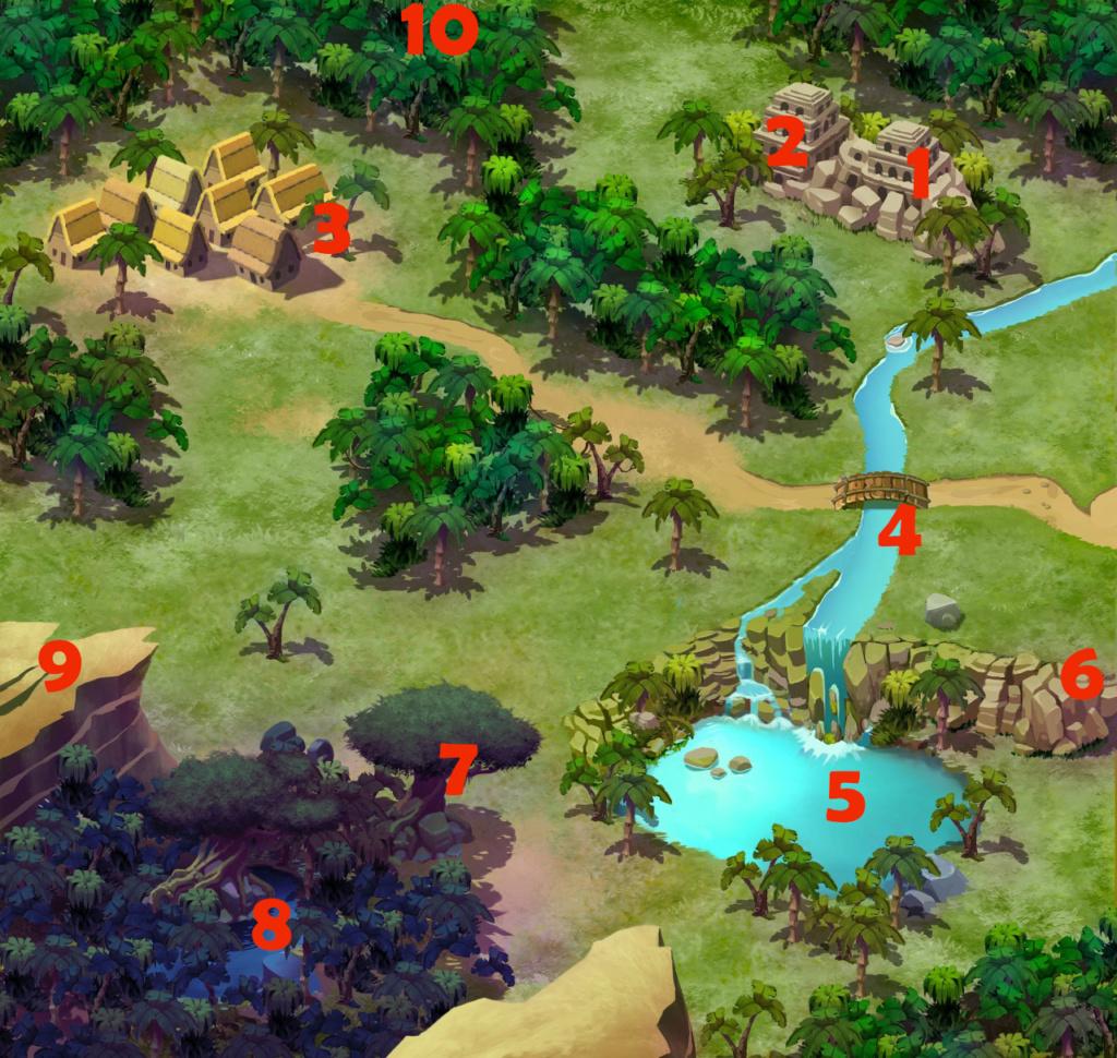 Landkarte und Legende Karte11