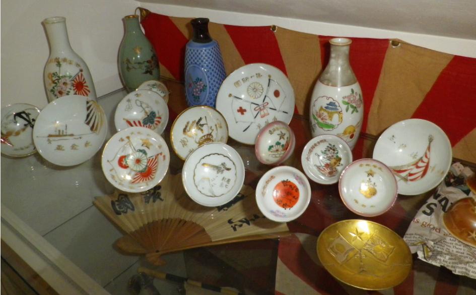 le saké dans l'armée japonaise et ses accessoires pendant la seconde guerre . 50110