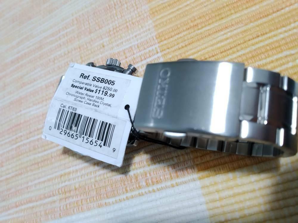 [Aceito ofertas] Vendo caixa completa para Seiko SSB005 mecaquartz 410