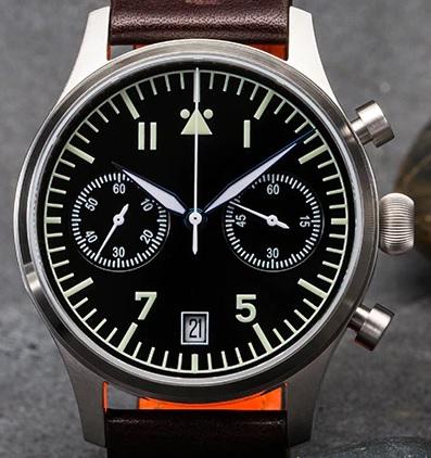 [Vendido] Cronógrafo Escapement Time Flieger - para despachar Et110