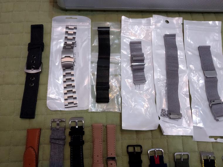 [Vendido] 24 braceletes (Nato, seatbelt, pele, metal, mesh, borracha, etc.) c/ oferta de mala p/ 24 relógios Img_2047