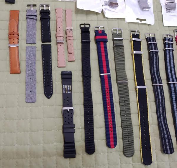 [Vendido] 24 braceletes (Nato, seatbelt, pele, metal, mesh, borracha, etc.) c/ oferta de mala p/ 24 relógios Img_2050