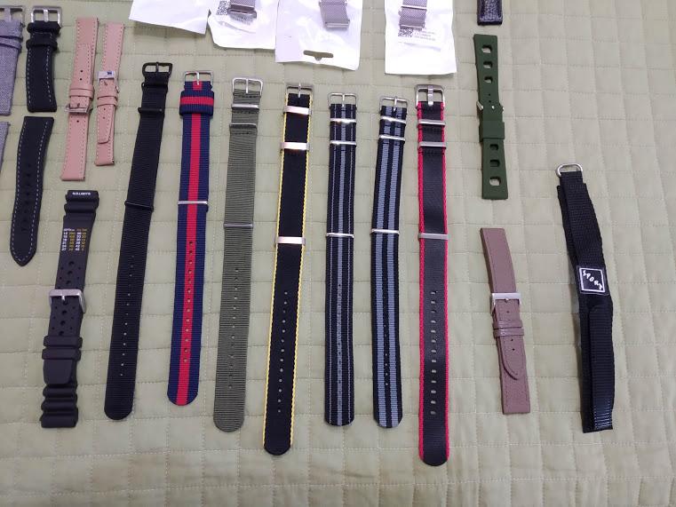 [Vendido] 24 braceletes (Nato, seatbelt, pele, metal, mesh, borracha, etc.) c/ oferta de mala p/ 24 relógios Img_2051
