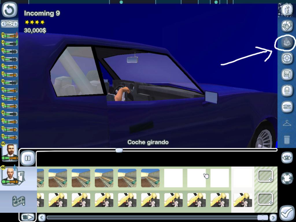 Cambiar el coche en determinadas secuencias de conducción 148