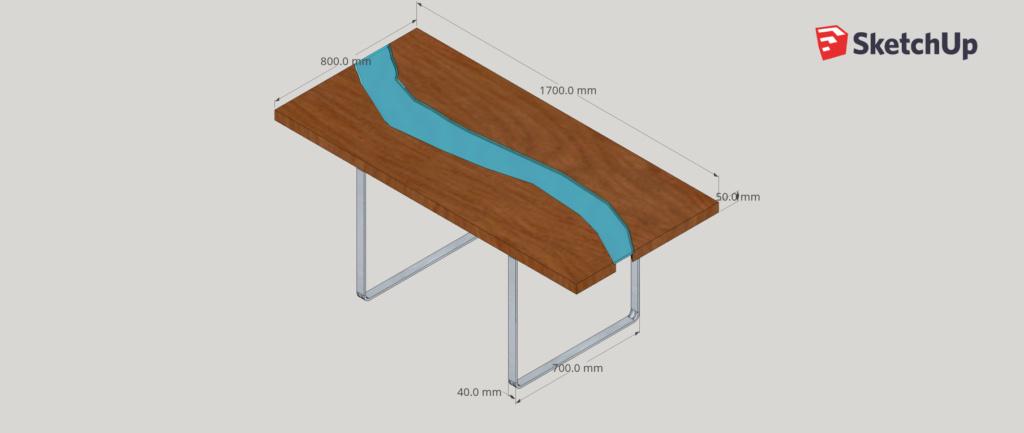 Table bois/verre Live-e10