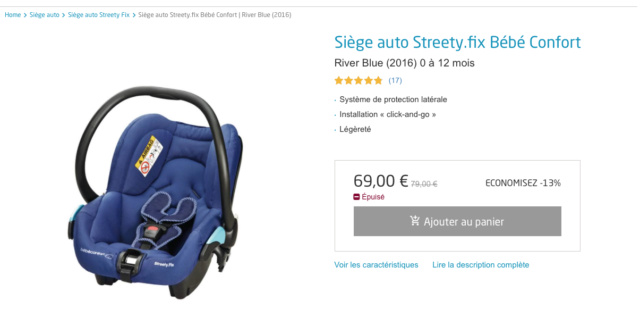 Siege auto bébé Captur28