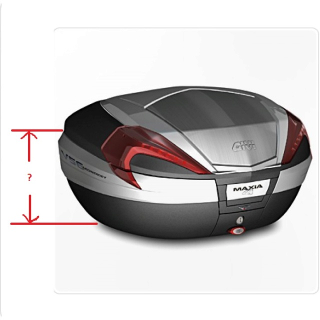 Givi's TB19 backrest + SR19 top case plate - issue P-967810
