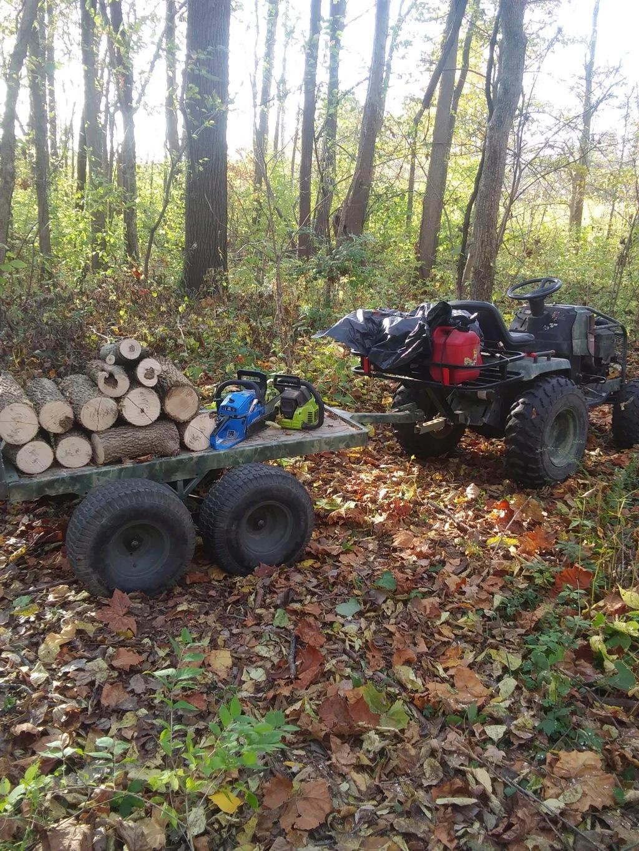 last minute idea ! woods trailer. 20201011