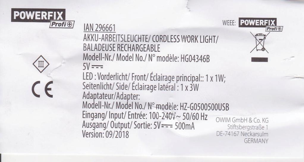 Changer accu d'une lampe LED Lampe_10