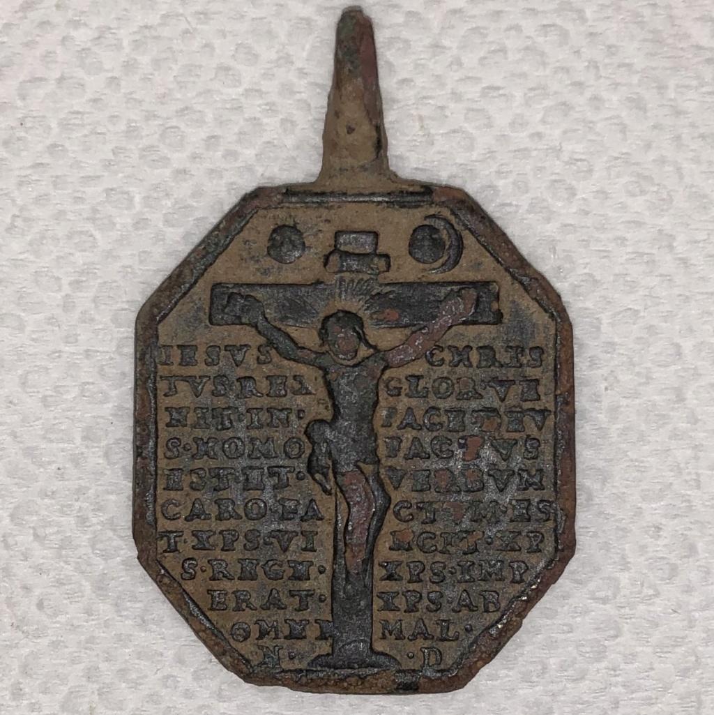 N. S. de Velen / Crucificado con Oración Protectora S-XVIII (AM) Img_0012