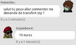[Famasito.] Transfert de Banquier au Centre Militaire Euros10