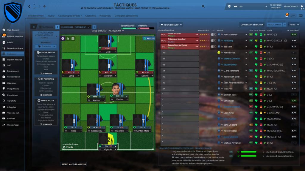 Composition J1/J2/J3 Phase de poules (Club Brugge) Brugge17