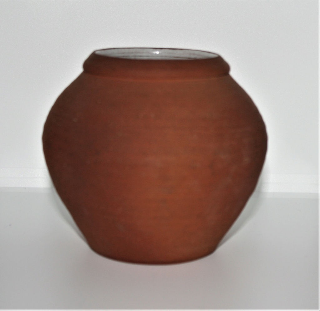 Lovely terracotta pot , LJ mark and another - see John Solly  Terrac12