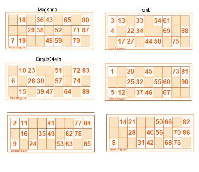 ¿Jugamos Bingo - Lotería de cartones?? Carton10