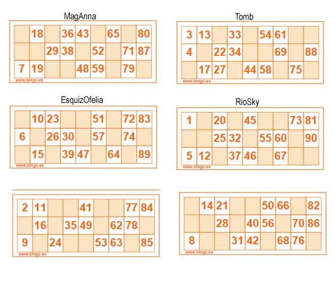 ¿Jugamos Bingo - Lotería de cartones?? Carton11