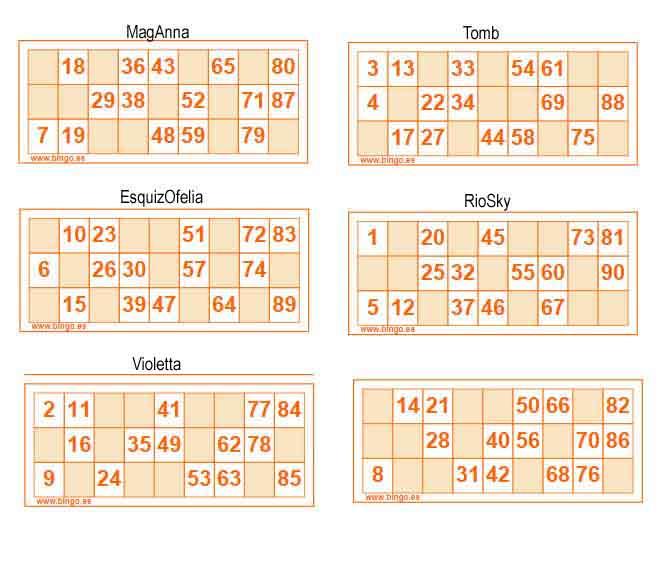 ¿Jugamos Bingo - Lotería de cartones?? Carton12
