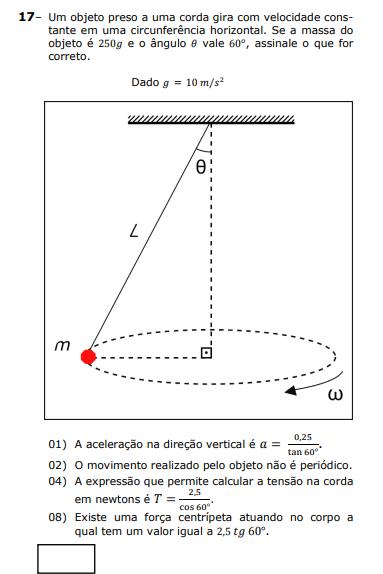 Pendulo cônico Unicen10