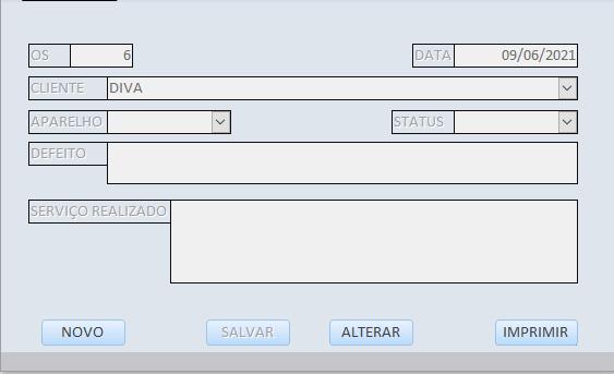 Um formulário três tabelas Captur12