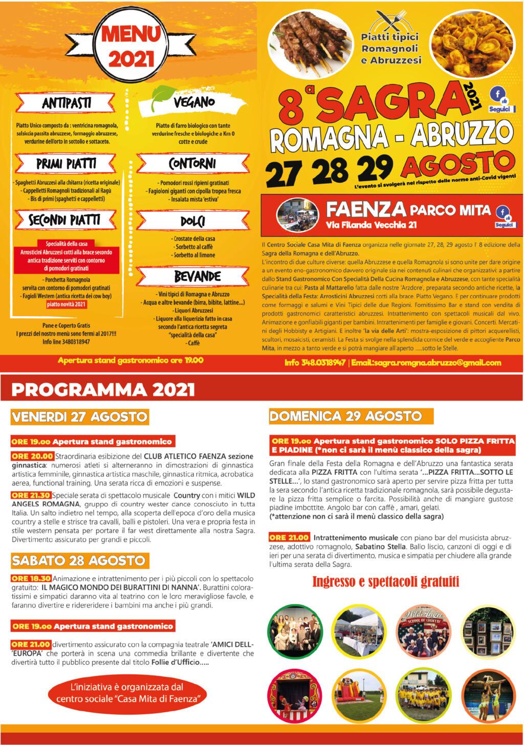 8° sagra della Romagna e dell'Abruzzo 2021 Locand10