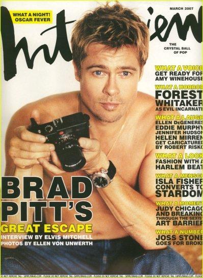 quelques celebrites et leurs montres Brad-p10