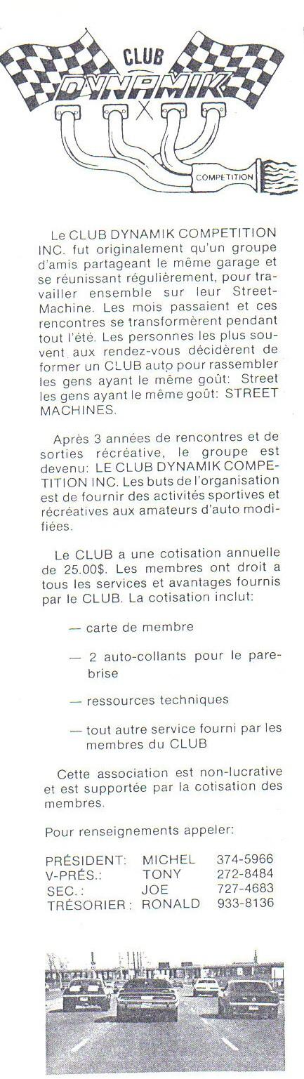 Les vieux club de char au Québec - Page 2 Dynami10