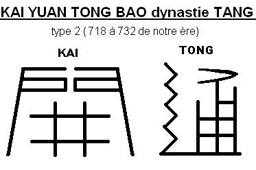 La determination du KAI YUAN TONG BAO a travers les dynastie Kai_210