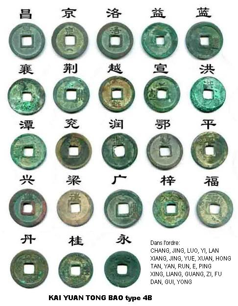 La determination du KAI YUAN TONG BAO a travers les dynastie Revers10