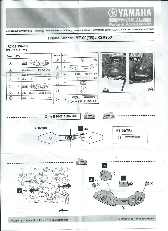 Notice protection moteur d'origine Yamaha Page_110