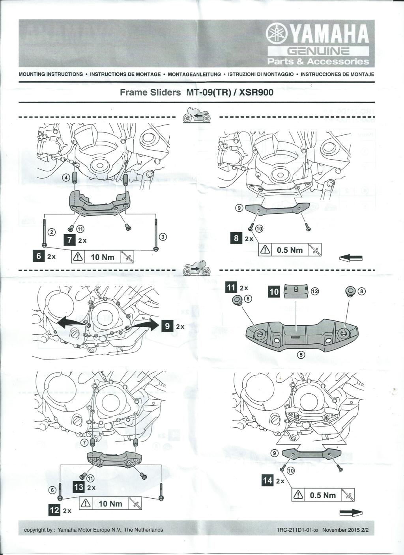 Notice protection moteur d'origine Yamaha Page_210
