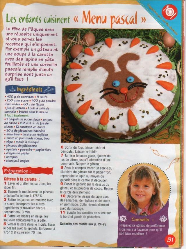 gâteau aux carottes Paques11