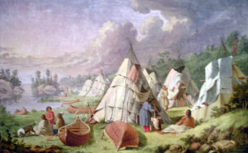Le rite de la tente tremblante 1ojibw10