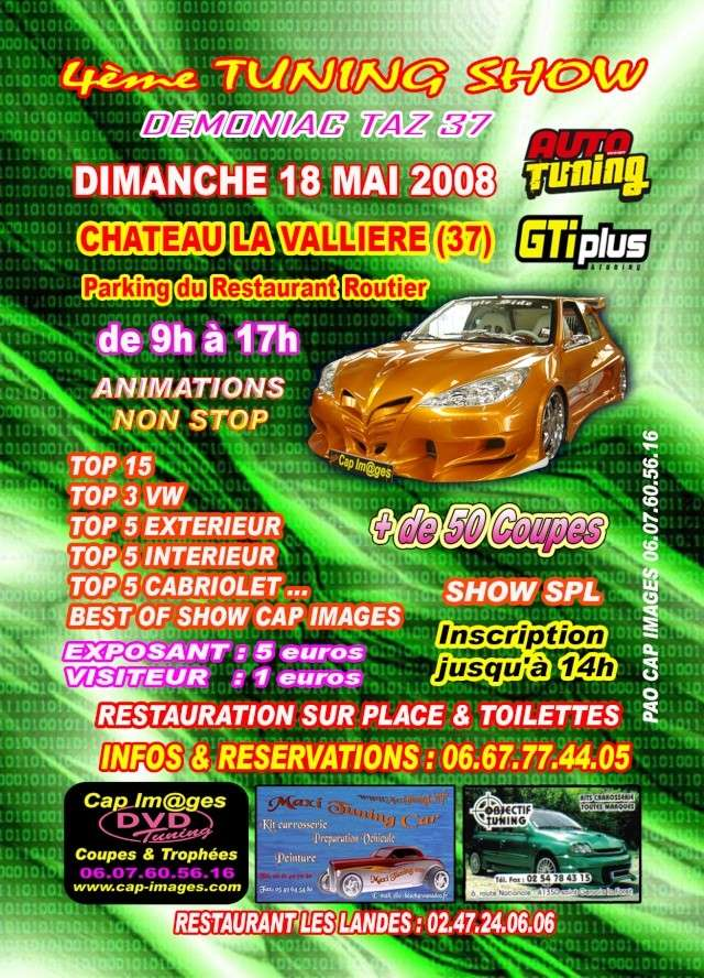 notre 4eme meeting tuning 2008 Flyer_11