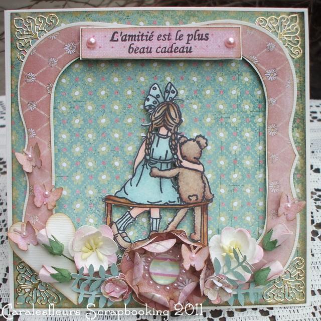 """15 Avril - Un """"lift"""" de carte pour la DT Art du Scrapbooking... Clara104"""