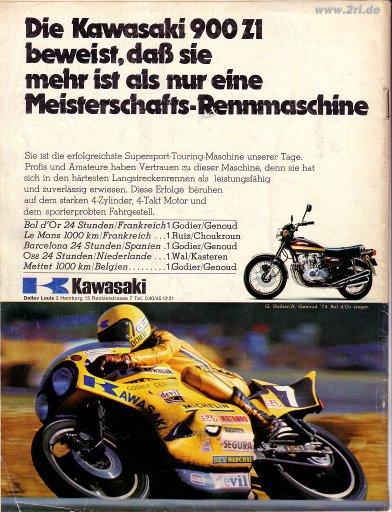 n° 7 du Bol d'or 1974 Kawasa10
