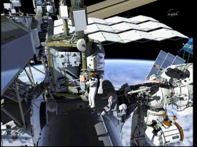 ISS en image de Synthèse - logiciels de la Nasa Vlcsna11