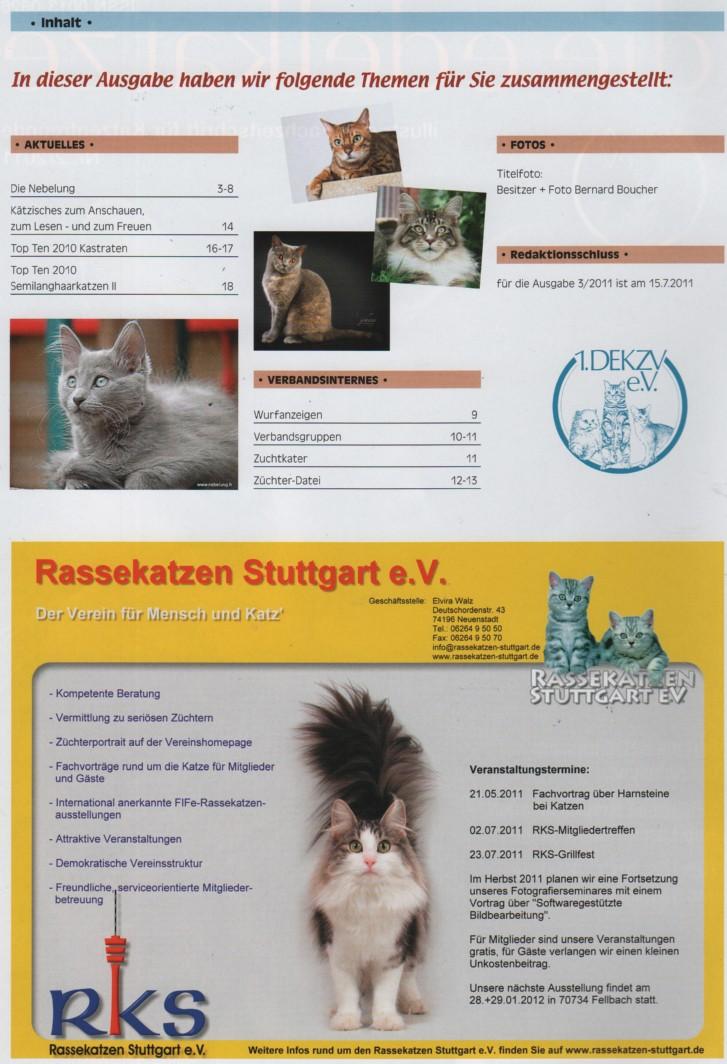 """German publication """"die-edelkatze """" Die-ed11"""