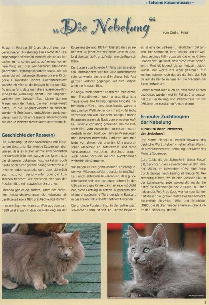 """German publication """"die-edelkatze """" Die-ed12"""