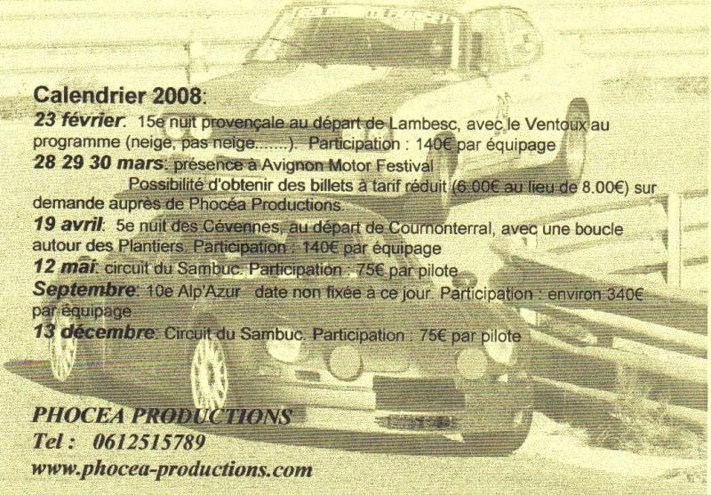 PHOCEA PRODUCTION... si vous voulez rouler... Calend10