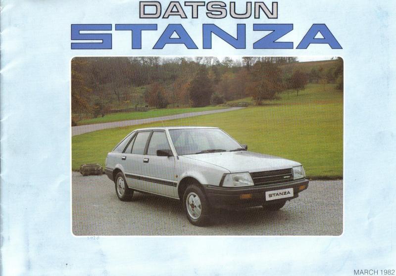 Datsun / NISSAN STANZA série des models T11 Stanza10