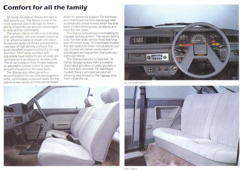 Datsun / NISSAN STANZA série des models T11 Stanza14