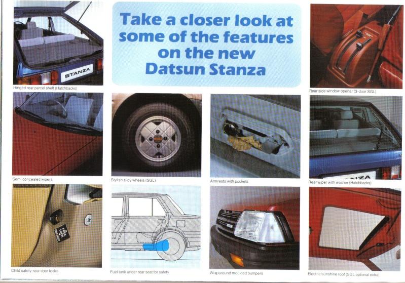 Datsun / NISSAN STANZA série des models T11 Stanza19