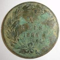 Reino de Portugal - 10 Reis de D. Luiz I (Lisboa, 1885) Moneda10